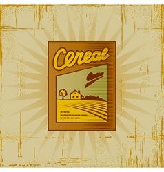 Retro Cereal Box vector image vector image