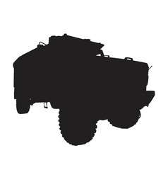 armored truck silhouette vector image
