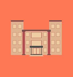 flat icon on stylish background school building vector image