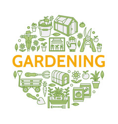 gardening planting horticulture colored banner vector image vector image