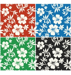 hibiscus flower seamless fabric textile vector image vector image