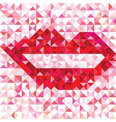 Seamless lip love pattern vector image vector image