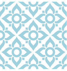 thai seamless pattern with flowers - tiled design vector image