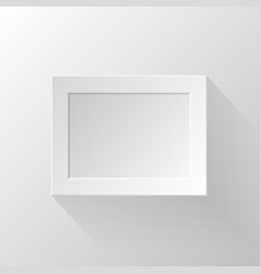 White paper frame vector image vector image