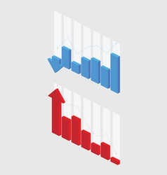 3D Graph vector image