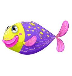 A shy fish vector image