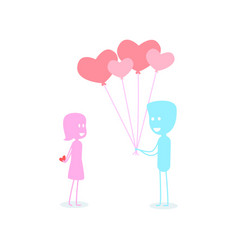 abstract picture about a boy who is in love vector image