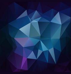 Abstract polygonal square background sapphire blue vector