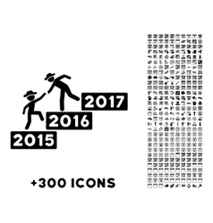 Annual Human Figure Help Icon vector image