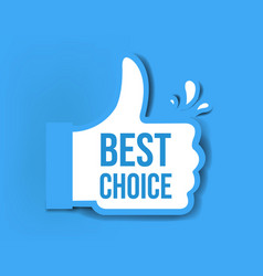 best choice sticker isolated blue background vector image