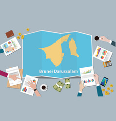 brunei darussalam country growth nation team vector image