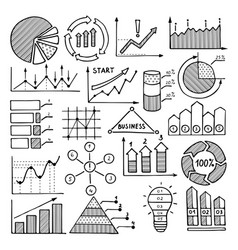 business charts graphics and vector image