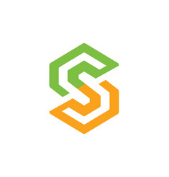 Circle letter s logo vector