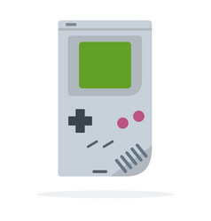 Computer game pad tetris icon flat isolated vector