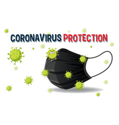 coronavirus protection with mask banner vector image