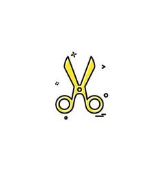 Cut cutter scissor scissors tailor icon desige vector