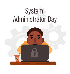 Day of the system administrator cartoon funny vector
