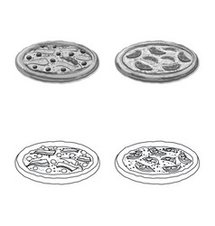 Design of pizza and food logo set of pizza vector