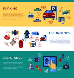 digital assisted transportation vector image