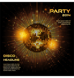 Disco ball party background ai vector