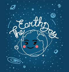 earth day doodle style vector image