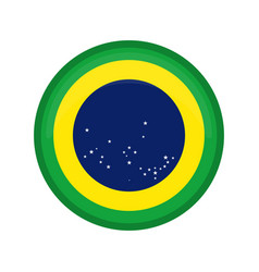 empty brazil campaign button vector image