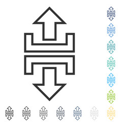 Expand vertical icon vector
