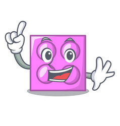 Finger toy brick mascot cartoon vector