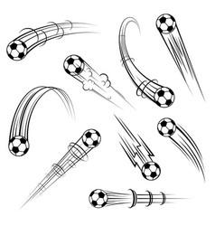 football outline movement symbols set vector image