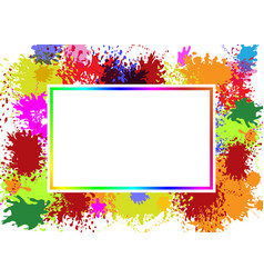 frame on splash color vector image