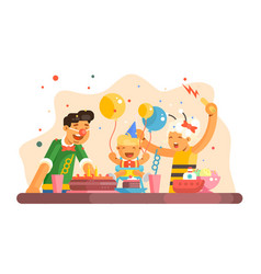 Funny children party vector