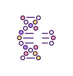 Genetic engineering rgb color icon vector