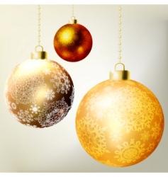 Golden Christmas balls template vector