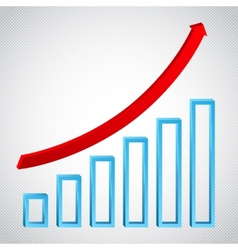 growth graph concept with ricing arrow vector image