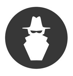 hacker cartoon symbol vector image
