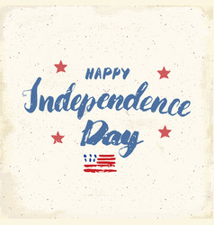 happy independence day vintage usa greeting card vector image