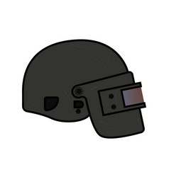 helmet level 3 from pubg vector image