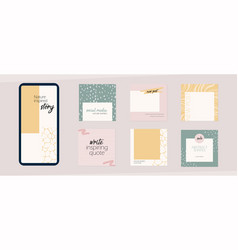 Instagram social media template abstract shapes vector