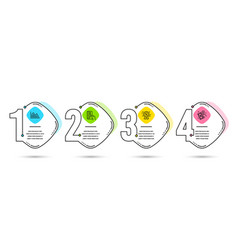 investment graph discount and payment card icons vector image