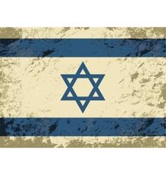 Israeli flag Grunge background vector