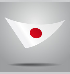 japanese flag background vector image