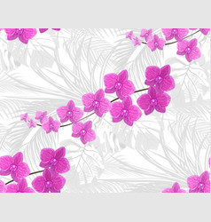 Jungle purple orchids against the background of vector
