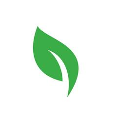leaf nature symbol web icon logo template design vector image