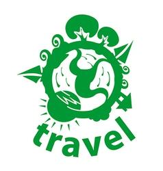 Logo journey around planet vector