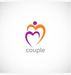 love couple logo vector image