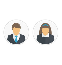 Man and woman avatar vector
