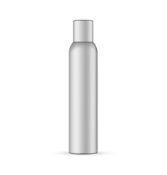 Metallic aerosol bottle mockup isolated vector