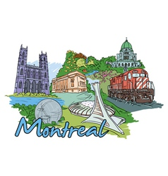 montreal doodles vector image