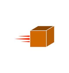 moving box fast box logo design template vector image