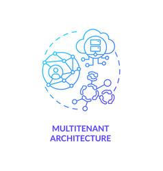 Multitenant architecture concept icon vector